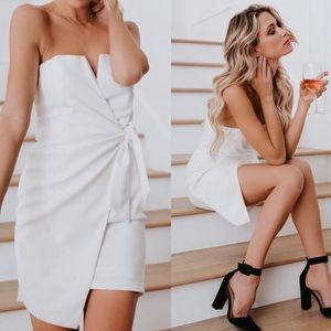 Dresses & Skirts - Bridal look! Brand new faux wrap dress